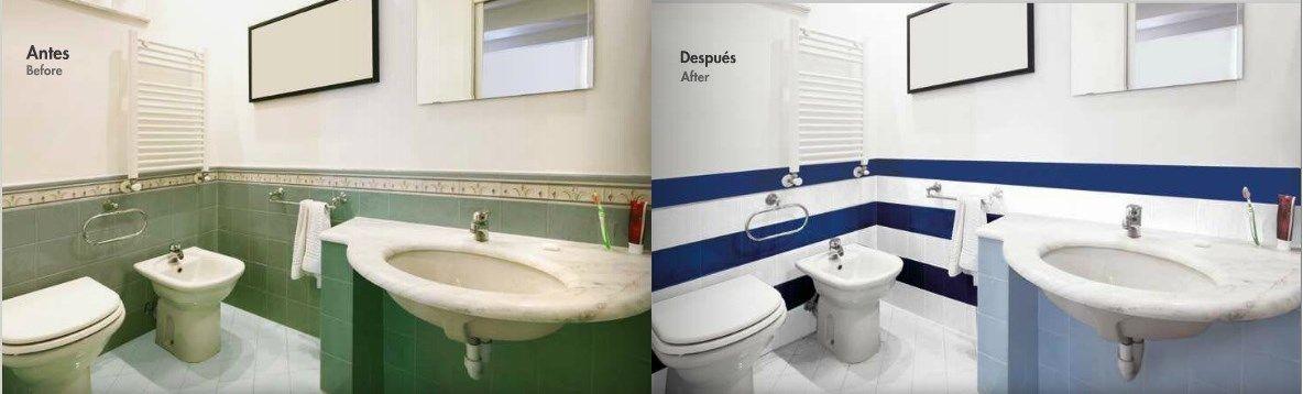 Pintura para azulejos pastor decoraciones - Pintura especial para banos ...