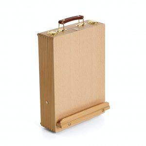 Caja caballete de madera