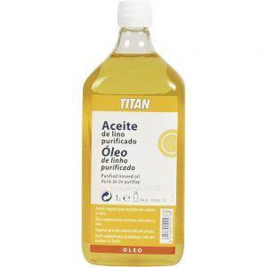 Aceite de lino purificado titan 1l