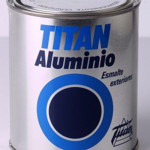 Titan aluminio esmalte exteriores 750ml